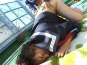 Chubby Misa Kashigawi fucked outdoors